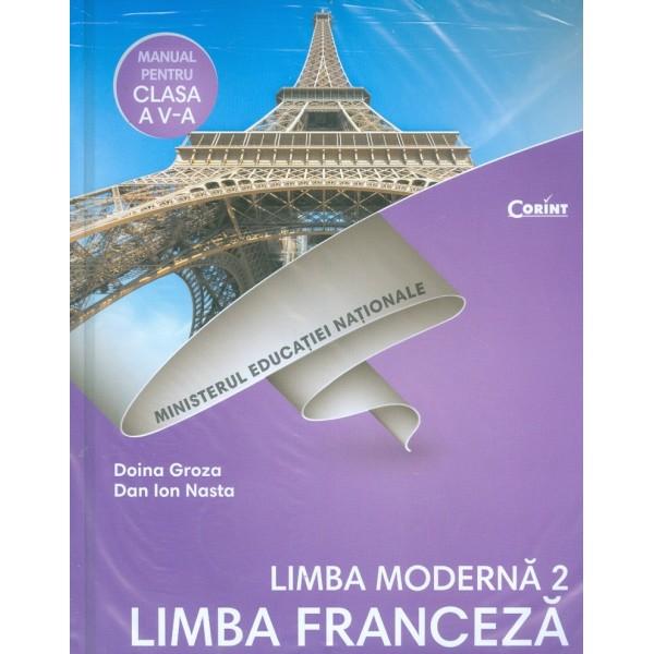 Limba franceza. Limba moderna 2, clasa a V-a cu CD