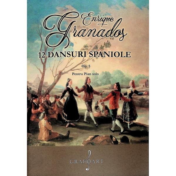12 dansuri spaniole, Op. 5. Pentru pian solo