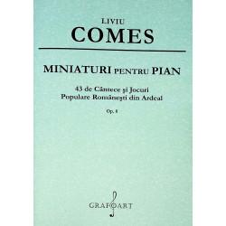 Miniaturi pentru pian. 43 de cantece si jocuri populare romanesti din Ardeal, op.8