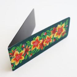 Semn magnetic de carte cu flori și citat celebru