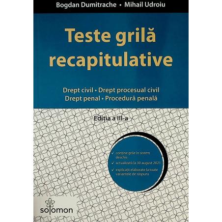 Teste grila recapitulative...