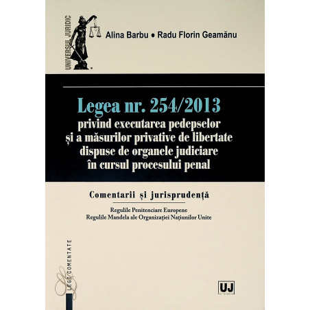 Legea nr. 254/2013 privind...